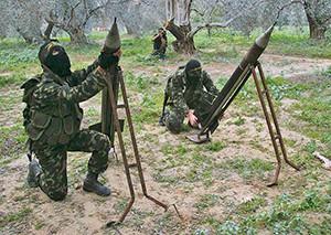 Terrorists attacking Israel.