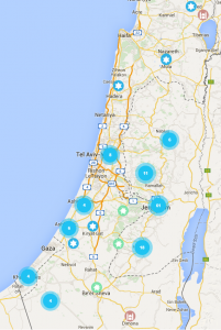 Over 800 violent attacks against Jews in Israel since Rosh Hashanah, September 15, 2015.