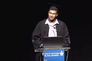 Egyptian citizen Haisam Hassanein was the Tel Aviv University International Students Master's Degree Program valedictorian for 2015