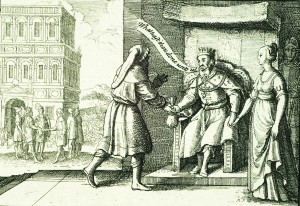 Abimelech rebuking Abraham (Wenceslas Hollar, 1607-1677).