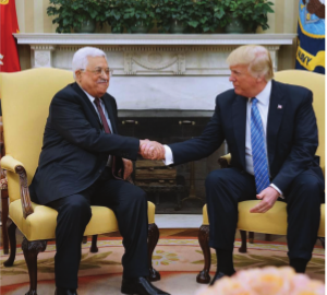 PA President Mahmoud Abbas and US President Donald Trump