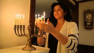 Carinne Sjöberg, leder af Umeå jødisk Forening
