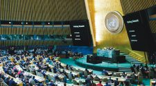 The UN General Assembly votes December 21, 2017, to condemn US recognition of Jerusalem as Israel's capital.